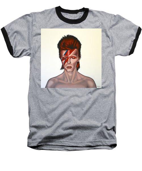 David Bowie Aladdin Sane Baseball T-Shirt by Paul Meijering