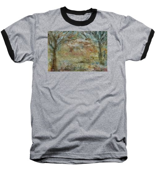 Baseball T-Shirt featuring the painting Dawn 2 by Mary Wolf