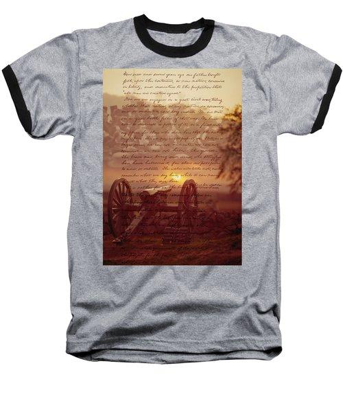 Dawn At Gettysburg Baseball T-Shirt