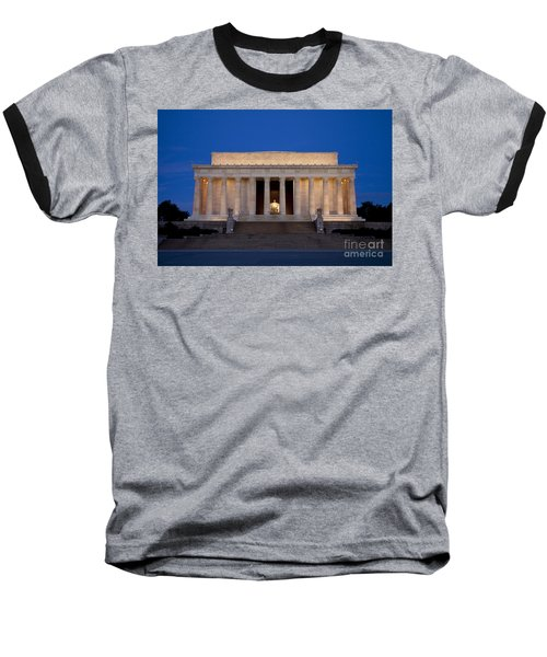 Dawn At Lincoln Memorial Baseball T-Shirt