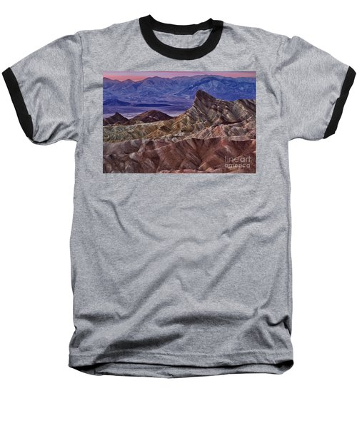 Baseball T-Shirt featuring the photograph Dawn At Zabriskie Point by Jerry Fornarotto
