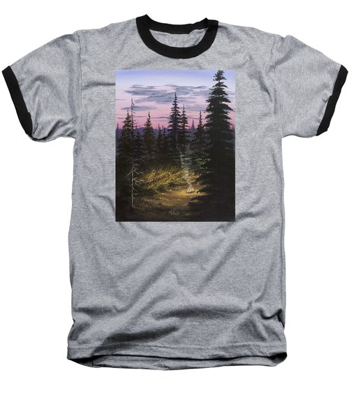 Dawn Fire Baseball T-Shirt by Jack Malloch