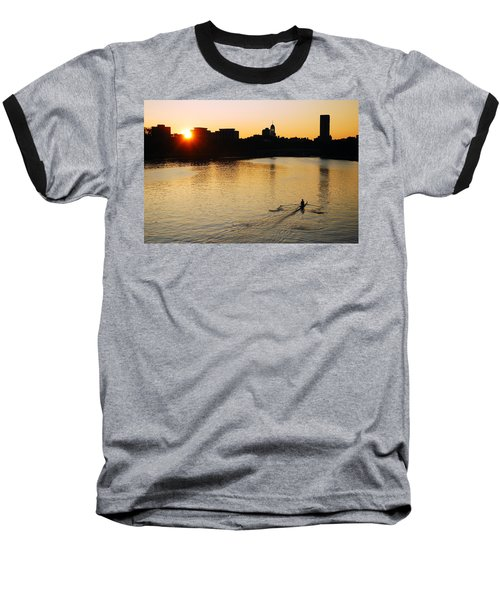 Baseball T-Shirt featuring the photograph Dawn On The Charles by James Kirkikis