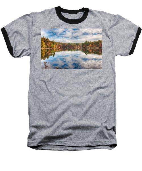 Dawn Reflection Of Fall Colors Baseball T-Shirt