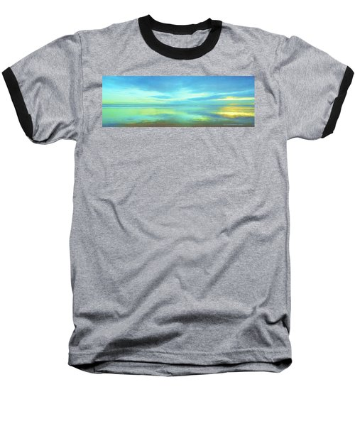 Baseball T-Shirt featuring the painting Dawning Glory by Sophia Schmierer