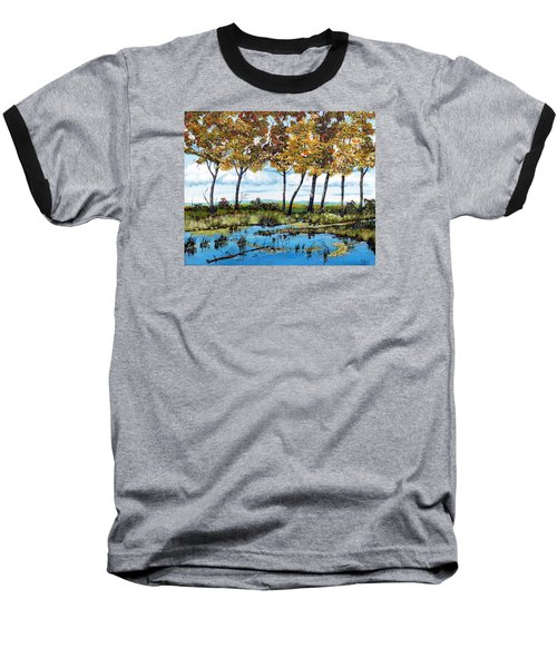 Dawn's Blue Waters Edge  Baseball T-Shirt