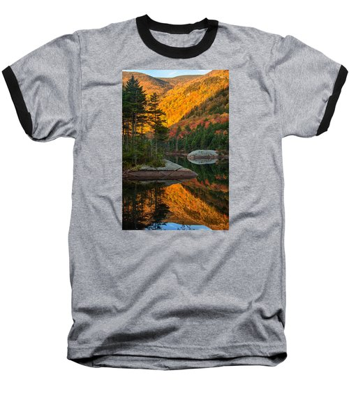 Baseball T-Shirt featuring the photograph Dawns Foliage Reflection by Jeff Folger