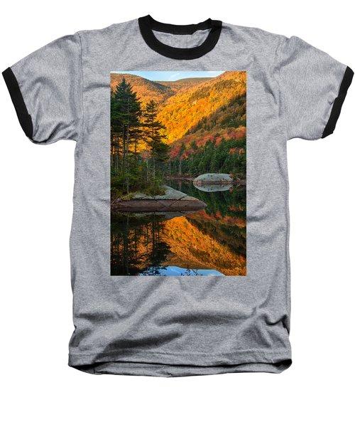 Dawns Foliage Reflection Baseball T-Shirt