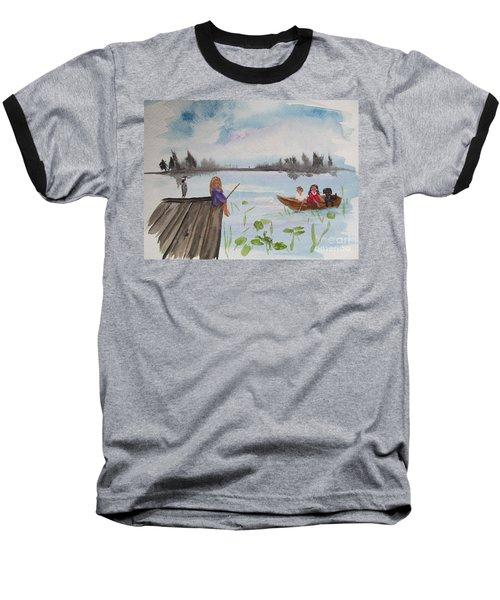 Day Of Fishing Baseball T-Shirt
