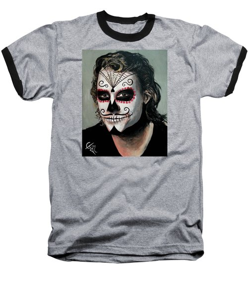 Day Of The Dead - Heath Ledger Baseball T-Shirt