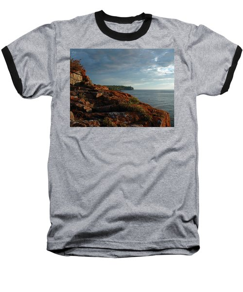 Daybreak At Campsite 19 Baseball T-Shirt by James Peterson
