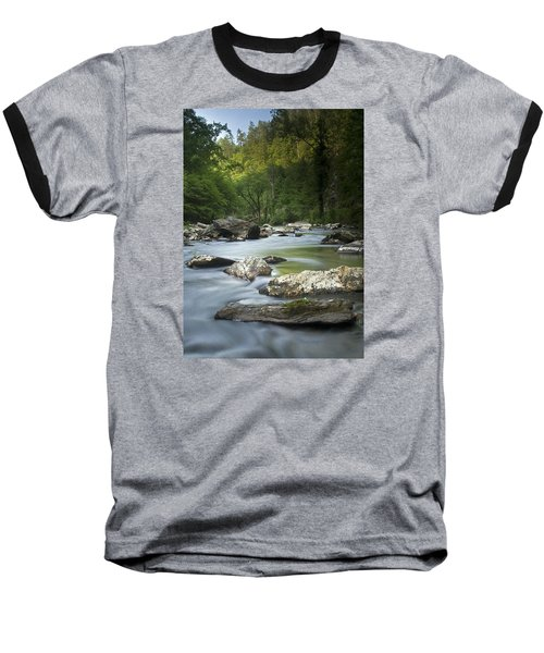 Baseball T-Shirt featuring the photograph Daybreak In The Valley by Andy Crawford