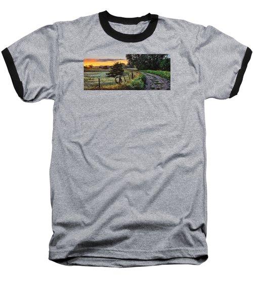 Daybreak Southwest Corner Fenceline Baseball T-Shirt by Bruce Morrison