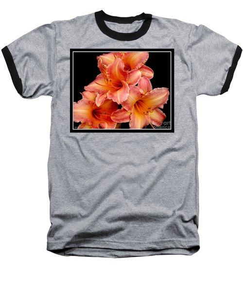 Daylilies 2 Baseball T-Shirt by Rose Santuci-Sofranko