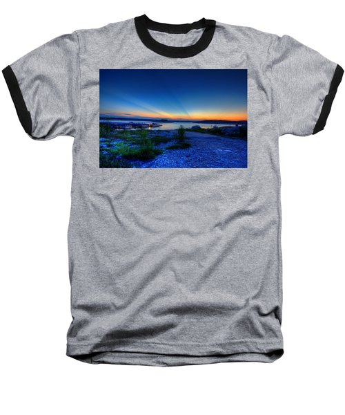 Days End Baseball T-Shirt by Dave Files