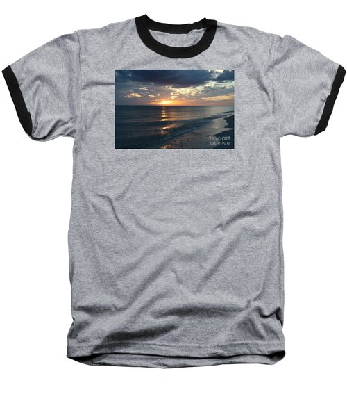 Days End Over Sanibel Island Baseball T-Shirt by Christiane Schulze Art And Photography