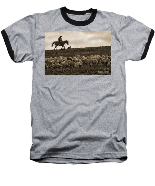 Days End Sheep Herding Baseball T-Shirt