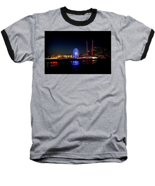 Baseball T-Shirt featuring the photograph Daytona At Night by Laurie Perry