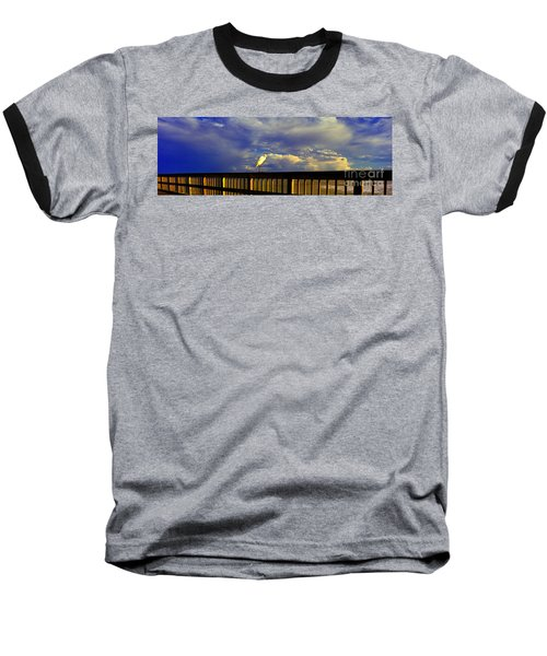 Daytona Beach Fl Bird Sun Glow Pier  Baseball T-Shirt