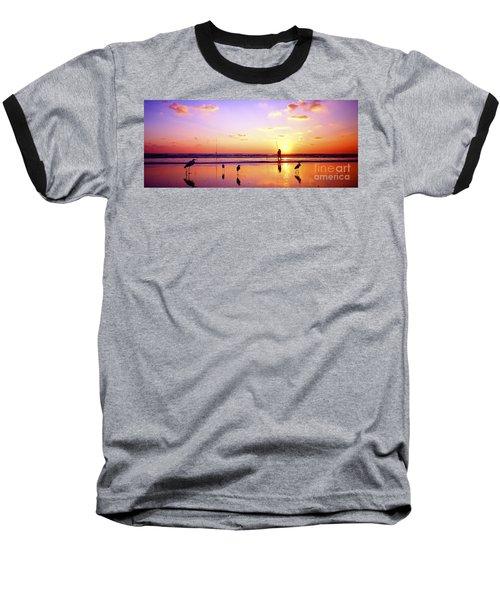 Daytona Beach Fl Surf Fishing And Birds Baseball T-Shirt