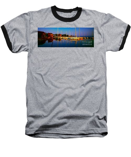 Daytona Beach Florida Inland Waterway Private Boat Yard With Bird   Baseball T-Shirt
