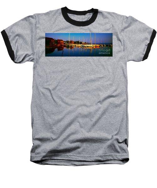 Daytona Beach Florida Inland Waterway Private Boat Yard With Bird   Baseball T-Shirt