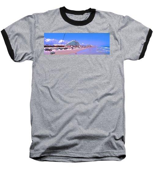 Baseball T-Shirt featuring the photograph Daytona Main Street Pier And Beach  by Tom Jelen