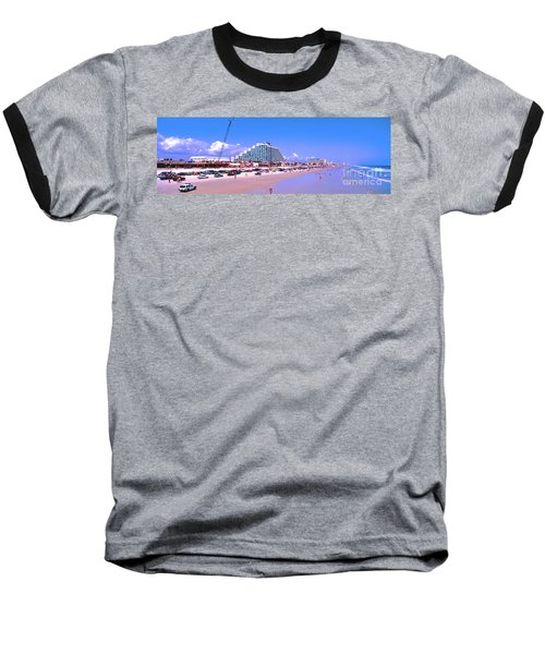 Daytona Main Street Pier And Beach  Baseball T-Shirt