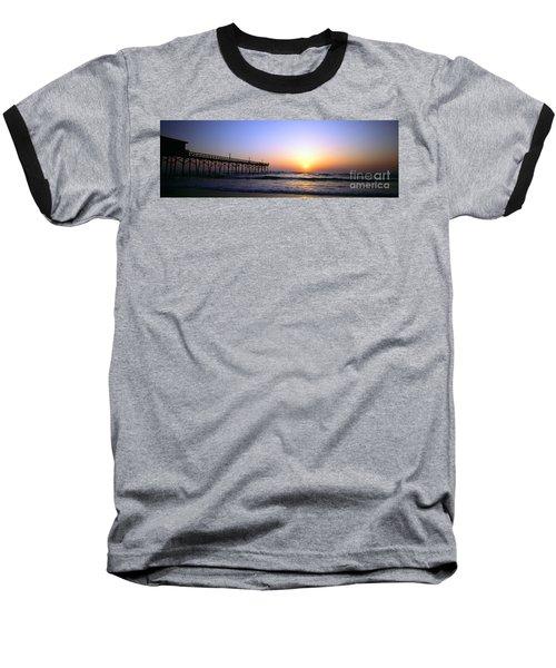 Baseball T-Shirt featuring the photograph Daytona Sun Glow Pier  by Tom Jelen