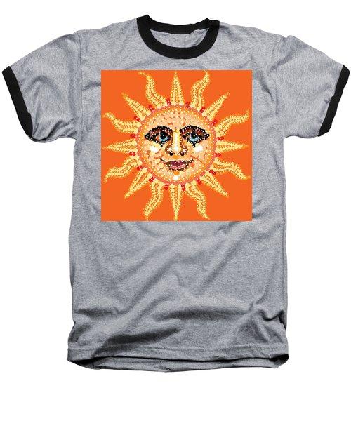 Baseball T-Shirt featuring the digital art Dazzling Sun by R  Allen Swezey