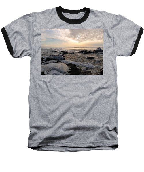 Dazzling Winter On Lake Superior Baseball T-Shirt by James Peterson