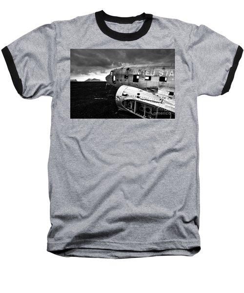 Baseball T-Shirt featuring the photograph Dc-3 Iceland by Gunnar Orn Arnason