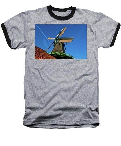 Baseball T-Shirt featuring the photograph De Kat Blue Skies by Jonah  Anderson