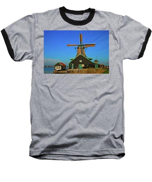 Baseball T-Shirt featuring the photograph De Kat On De Zaan by Jonah  Anderson