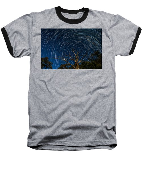 Dead Oak With Star Trails Baseball T-Shirt