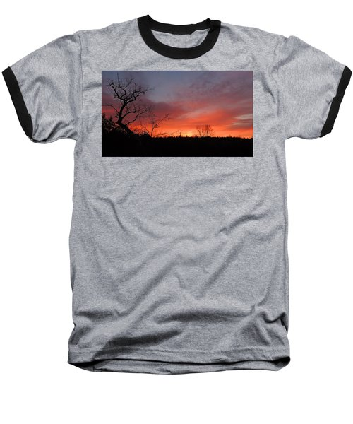 Dead Tree Sunrise Baseball T-Shirt