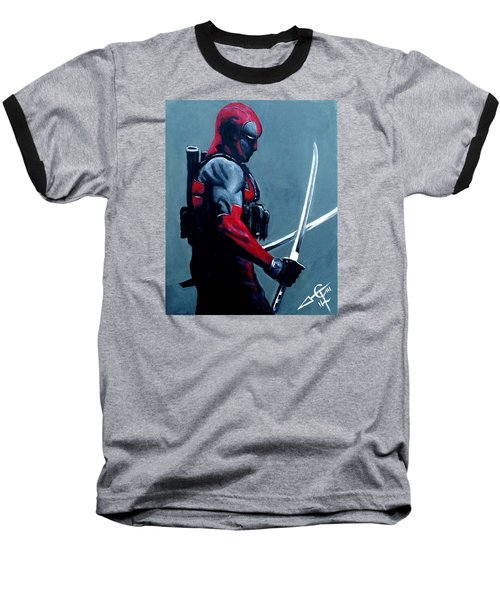 Deadpool Baseball T-Shirt