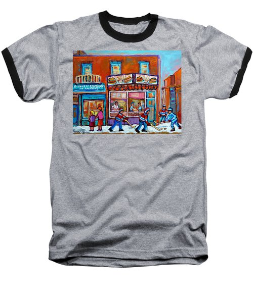 Decarie Hot Dog Restaurant Ville St. Laurent Montreal  Baseball T-Shirt