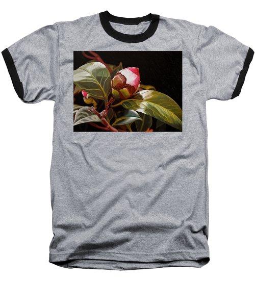 December Rose Baseball T-Shirt by Thu Nguyen