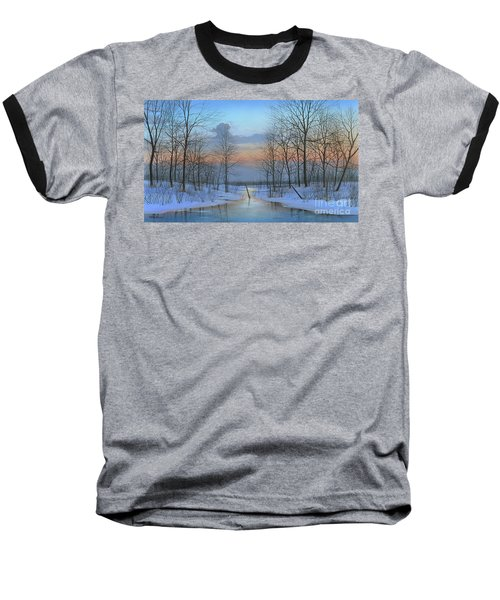 Baseball T-Shirt featuring the painting December Solitude by Mike Brown