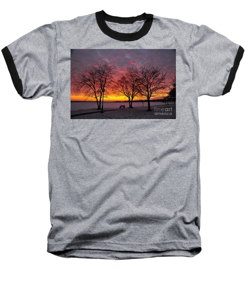 Baseball T-Shirt featuring the photograph December Sunset by Terri Gostola