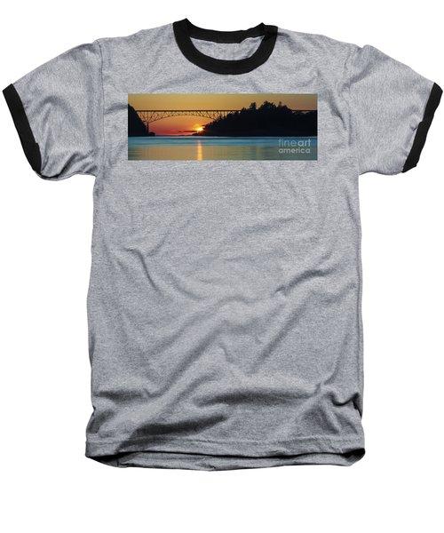 Deception Pass Bridge Sunset Baseball T-Shirt