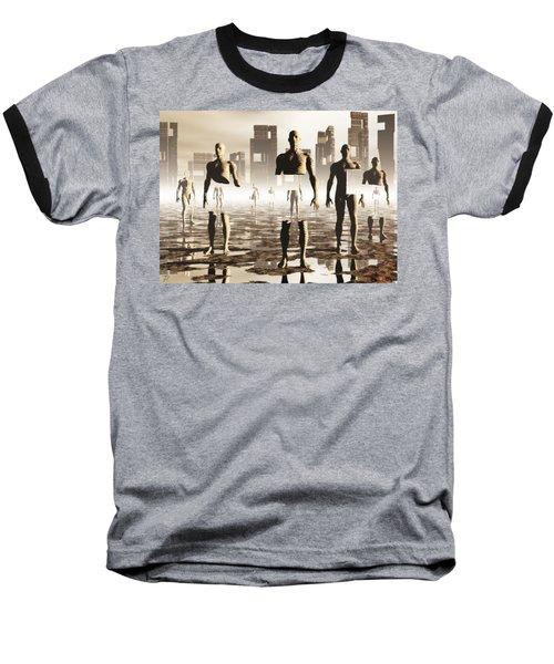 Baseball T-Shirt featuring the digital art Deconstruction by John Alexander