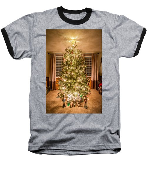 Baseball T-Shirt featuring the photograph Decorated Christmas Tree by Alex Grichenko