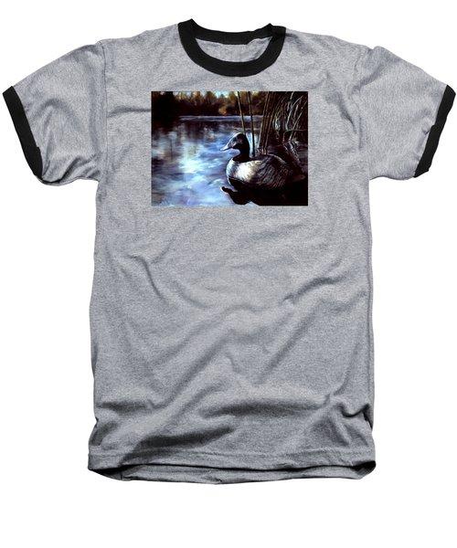 Decoy At Tealwood Baseball T-Shirt by Pattie Wall