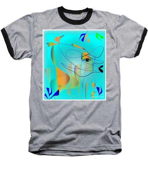 Baseball T-Shirt featuring the digital art Deeep Below by Iris Gelbart