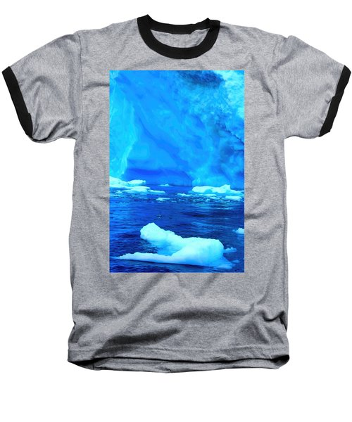 Baseball T-Shirt featuring the photograph Deep Blue Iceberg by Amanda Stadther