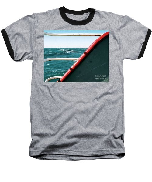 Baseball T-Shirt featuring the photograph Deep Blue Sea Of The Gulf Of Mexico Off The Coast Of Louisiana Louisiana by Michael Hoard