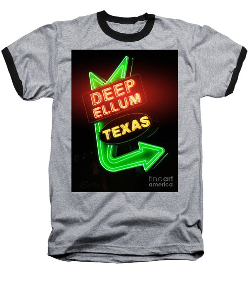 Deep Ellum Red Glow Baseball T-Shirt