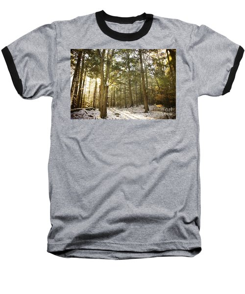 Baseball T-Shirt featuring the photograph Deep In The Forest by Alana Ranney